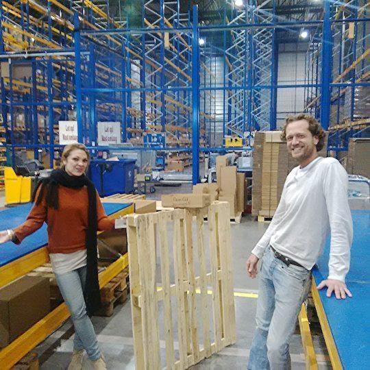 Laura and Bas at Warehouse